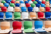 Coloured seats — Stock Photo