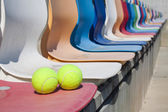 Isolerade tennisbollar — Stockfoto