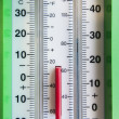 Stock Photo: Dual wheather thermometer
