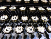 Keys of old typewriter — Stock Photo