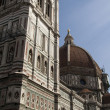 Facade and cupola of Il Duomo in Florence — Stock Photo