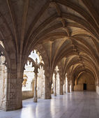 The Hieronymites Monastery (Mosteiro dos Jeronimos), located in — Stock Photo