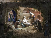 Christmas creche — Stock Photo