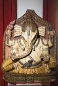 Statua di legno di ganesha — Foto Stock