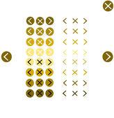Button navigation tools — Stock Vector