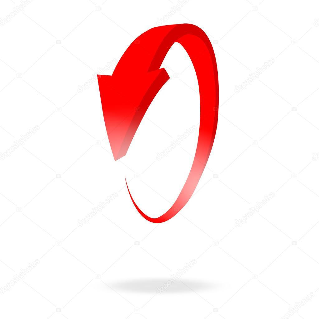 3d 圆形红色箭头和明亮 — 图库矢量图片#27574855