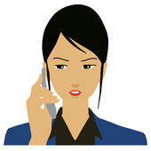 Business woman calling on phone — Stock Vector