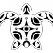 Tattoo of turtle, tribal polynesian — Stockvector #38471959