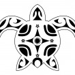 Stock Vector: Tattoo of turtle, tribal polynesian