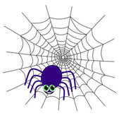 A spider on a web — Vector de stock