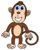 Happy monkey standing — Vettoriale Stock