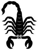 A scorpion shadow — Stock Vector
