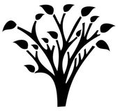 A tree with shadow — Stock Vector