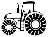 A tractor shadow — Stock Vector