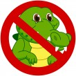 Crocodile in a prohibitory sign — Stock Vector #49938191