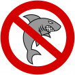 A gray shark with prohibitory sign — Stock Vector #49938517