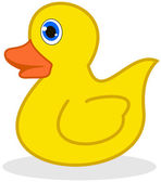 A duckling in toy — Stock Vector