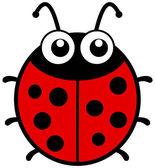 A ladybug with big eyes — Stock Vector