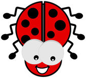 Ladybird with big eyes — Stock Vector