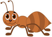 An ant profile and smiling — Stock Vector