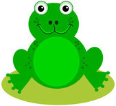 A smiling green frog — Stock Vector
