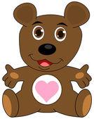 A teddy bear open arms — Stock Vector