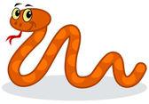 A orange snake — Stock Vector