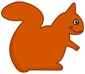 A squirrel icon — Stock Vector