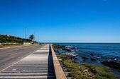 Weg naar punta del este strand — Stockfoto