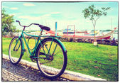 Old photo: old bike — Stockfoto