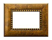 Wood picture frame on blank — Stock Photo