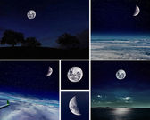 Moon collection — Stock Photo