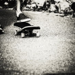 Skateboard foot closeup — Foto de stock #24845537