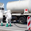 Chemical spill after traffic accident — Stock Photo #23506251