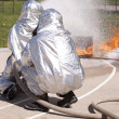 Stock Photo: Firefighter training