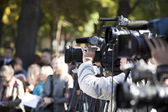 Covering an event with a video camera — 图库照片