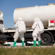 Chemical spill after traffic accident — Stock Photo #23574725