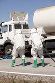 Wycieku chemicznego po wypadku drogowym — Zdjęcie stockowe