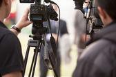 涵盖视频摄像机的事件 — 图库照片