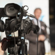 Covering an event with a video camera — Stock Photo