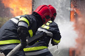 Firefighters in action — Stock Photo