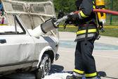 Firefighter training — Stock Photo