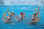 Synchronized swimmers — Stock Photo