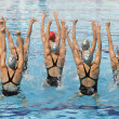 Stock Photo: Synchronized swimmers