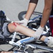 Stock Photo: Bicycle fall