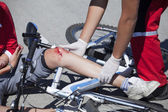 Bicycle fall — Stock Photo