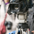 Covering event with video camera — Stock Photo #23870783