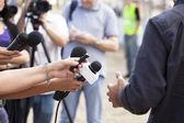 Tv-interview — Stockfoto