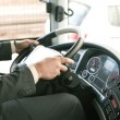 Stock Photo: Driving bus
