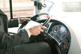 Driving bus — Stock Photo